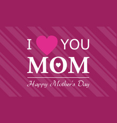 Background happy mother day style vector