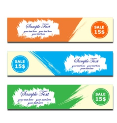 banner brush paint vector image vector image