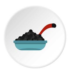 Black caviar icon circle vector