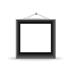 Black picture frame vector image