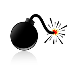 Bomb and shadow vector image
