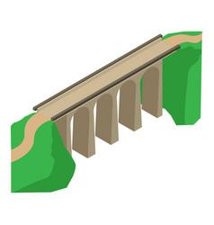 Bridge icon isometric style vector