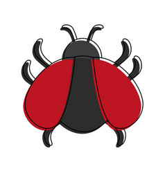 bug virus symbol vector image