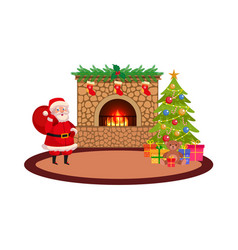 Christmas holiday scene vector