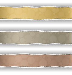 colored stripe in the torn off paper vector image vector image