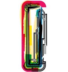 Colorful Grunge font LETTER I vector image vector image