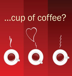 cup of coffee color vector image vector image