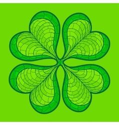 Decorative lucky clover leaf vector
