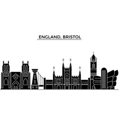 England bristol architecture city skyline vector