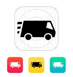 Fast delivery minibus icon vector