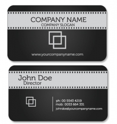 film business card vector image vector image