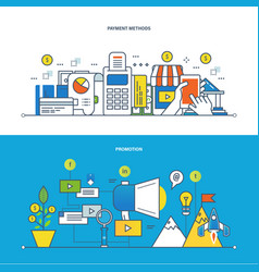 finance payments methods promotion technology vector image