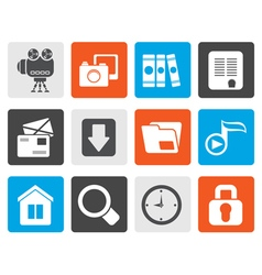 Flat Computer and website icons vector image vector image