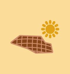 Flat icon on stylish background solar panels vector