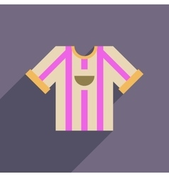 Flat web icon with long shadow football shirt vector