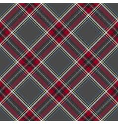Gray red diagonal check plaid seamless pattern vector