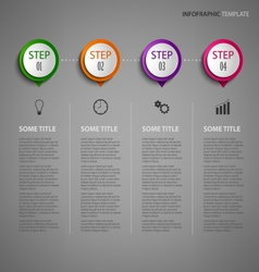 Info graphic with design pointer on dark vector image vector image