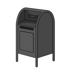 mailboxmail and postman single icon in monochrome vector image