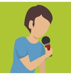 Man singing isolated icon design vector