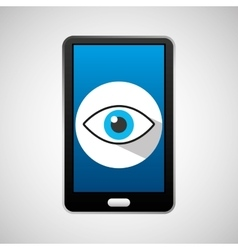 Mobile phone app eye surveillance vector