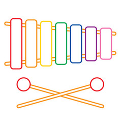 of xylophone vector image