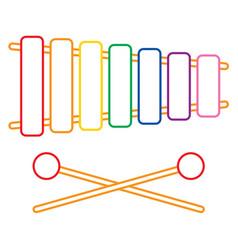 of xylophone vector image vector image