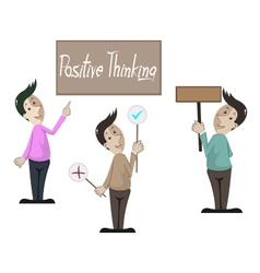 positive think vector image vector image