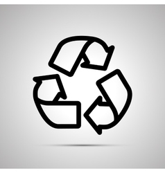 Recycling simple black icon vector