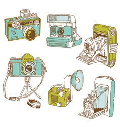 Set of Photo Cameras vector image vector image