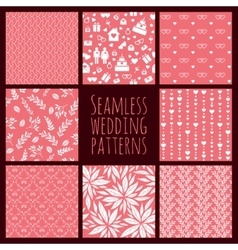 Set of seamless patterns for wedding decoration vector image vector image