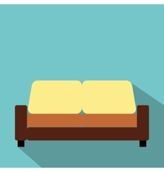 Sofa furniture flat icon vector image vector image