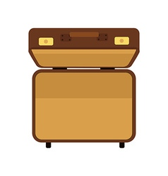 Suitcase top view vector image vector image