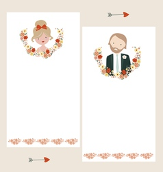 Wedding invitations templates vector image vector image