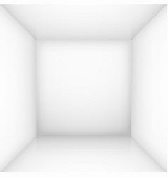 white simple empty room interior box for design vector image