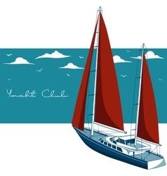 Yacht club vector image vector image