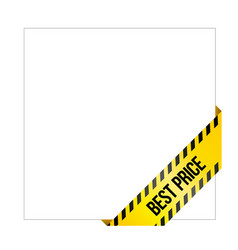 Yellow caution tape with words best price vector
