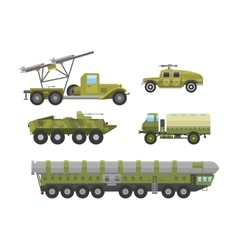 Military technic transport armor flat vector