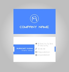 Blue business card vector