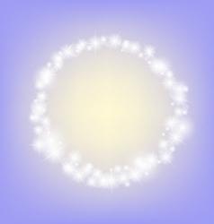 Purple romantic abstrack sparkling circle frame vector