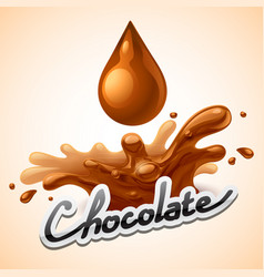hot chocolate splash vector image