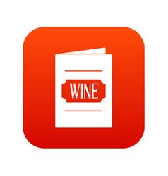 wine list icon digital red vector image