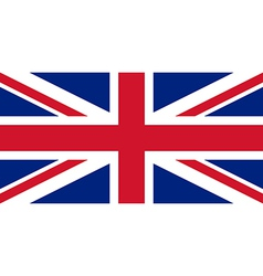 British flag with real colours and proportions vector