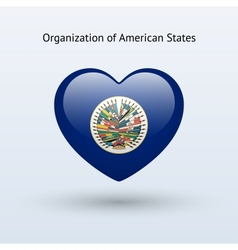 Love organization of american states symbol vector