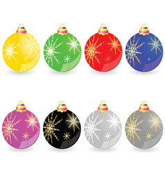 Christmas decorative ball in different color vector