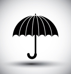 Umbrella simple single color icon vector
