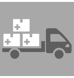 Medication delivery icon vector