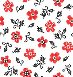 Abstract texture of flowers vector