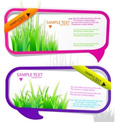 stickers for speech vector image