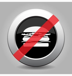 Gray chrome button - no hamburger vector