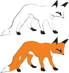 Fox silhouette 01 vector image
